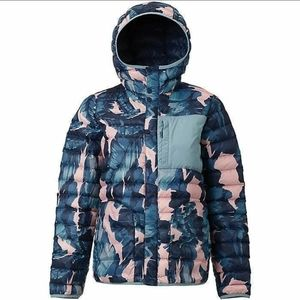 Burton evergreen palm print down jacket puffer